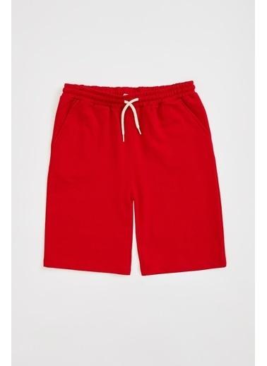 DeFacto Erkek Çocuk Basic Regular Fit Bermuda Şort Kırmızı